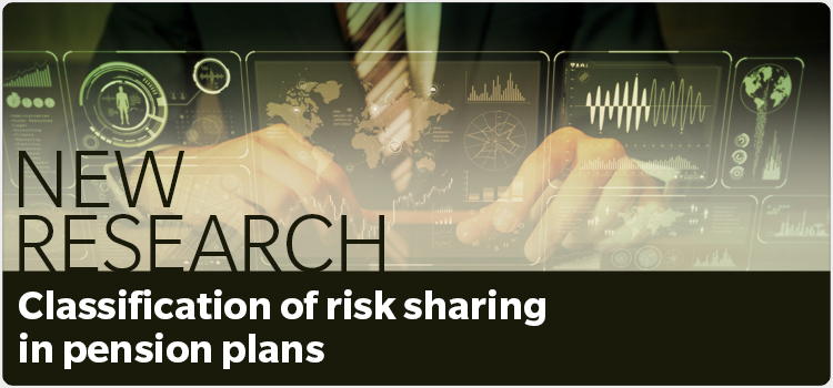 New Research - Classification of risk sharing in pension plans